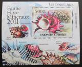 Poštovní známka Komory 2011 Lastury,škeble Deluxe Mi# 2959