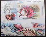 Poštovní známka Komory 2011 Lastury,škeble neperf. Mi# 2959 B