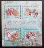 Poštovní známky Burundi 2012 Lastury,škeble Mi# 2753-56
