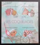 Poštovní známky Burundi 2012 Lastury,škeble neperf. Mi# 2753-56 B