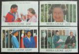 Poštovní známky Sierra Leone 1991 Královna Alžběta II. Mi# 1641-44