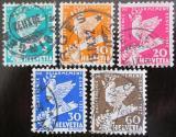 Poštovní známky Švýcarsko 1932 Holubice Mi# 250-54