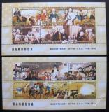 Poštovní známky Barbuda 1976 Americká revoluce Mi# Bl 16-17