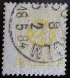 Poštovní známka Švédsko 1877 Nominální hodnota Mi# 23 B Kat 28€