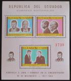 Poštovní známky Ekvádor 1967 Osobnosti Mi# Block 45