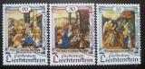 Poštovní známky Lichtenštejnsko 1990 Vánoce Mi# 1005-07