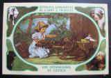 Poštovní známka Svatý Tomáš 1981 Dívka a psi Mi# Block 76 B Kat 22€
