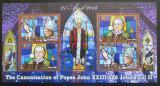 Poštovní známky Malawi 2014 Kanonizace papežů, zlaté písmo