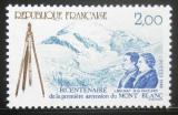 Poštovní známka Francie 1986 První výstup na Mt.Blanc Mi# 2560