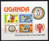 Poštovní známky Uganda 1979 Mezinárodní rok dětí, přetisk Mi# Block 19