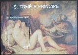 Poštovní známka Svatý Tomáš 1988 Umění, Tizian Mi# Block 188