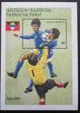 Poštovní známka Antigua 1989 MS ve fotbale Mi# Block 160