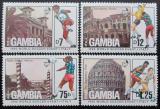 Poštovní známky Gambie 1989 MS ve fotbale Mi# 898-901