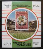 Poštovní známka Maledivy 1986 MS ve fotbale přetisk Mi# Block 127