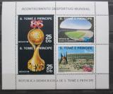 Poštovní známky Svatý Tomáš 1986 MS ve fotbale Mi# Block 166