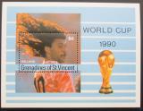 Poštovní známka Svatý Vincenc Gren. 1990 MS ve fotbale Mi# Block 53