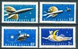 Poštovní známky Maďarsko 1961 Průzkum vesmíru Mi# 1758-61