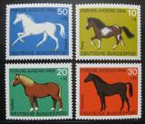 Poštovní známky Německo 1969 Koně Mi# 578-81