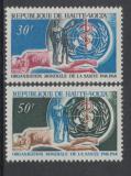 Poštovní známky Horní Volta 1968 Výročí WHO Mi# 238-39