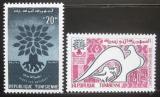 Poštovní známky Tunisko 1960 Rok uprchlíků Mi# 549-50