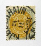 Poštovní známka Dánsko 1895 Královský znak Mi# 31 Kat 12€