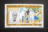 Poštovní známka Dahomey 1966 Dr. Albert Schweitzer Mi# 266