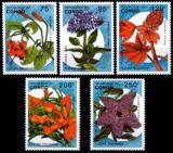 Poštovní známky Kongo 1993 Květiny Mi# 1387-91