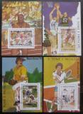 Poštovní známky Svatý Tomáš 1989 LOH Barcelona Mi# Block 197-200