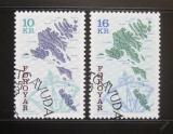 Poštovní známky Faerské ostrovy 1996 Mapy Mi# 303-04