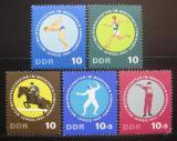 Poštovní známky DDR 1965 MS v moderním pětiboji Mi# 1133-37