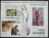 Poštovní známka Svatý Tomáš 2009 Umění, Cézanne Mi# Block 737