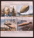 Poštovní známky Svatý Tomáš 2013 Vzducholodě Mi# 4976-79