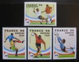 Poštovní známky Burkina Faso 1996 MS ve fotbale Mi# 1427-30