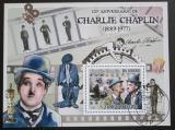Poštovní známka Svatý Tomáš 2009 Charlie Chaplin Mi# Block 689