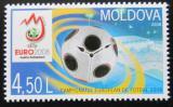 Poštovní známka Moldavsko 2008 ME ve fotbale Mi# 2686-90