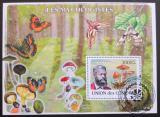 Poštovní známky Komory 2009 Motýli a houby Mi# Block 465 Kat 15€
