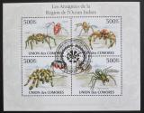 Poštovní známky Komory 2009 Pavouci Mi# 2677-80