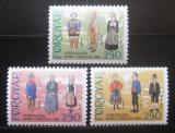 Poštovní známky Faerské ostrovy 1983 Kostýmy Mi# 90-92
