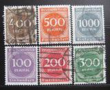 Poštovní známky Německo 1923 Nominální hod Mi# 268-73