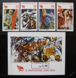 Poštovní známky DDR 1981 Kongres komunistů Mi# 2595-98 + Block 63