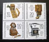 Poštovní známky DDR 1989 Telefony Mi# 3226-29