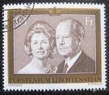 Poštovní známka Lichtenštejnsko 1974 Knížecí pár Mi# 614 Kat 8€