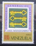 Poštovní známka Venezuela 1968 Nejvyšší kontrolní úřad Mi# 1746