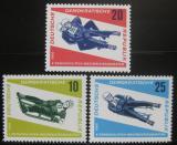 Poštovní známky DDR 1966 MS v jízdě na bobech Mi# 1156-58