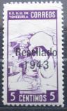 Poštovní známka Venezuela 1943 Sestra, přetisk Mi# 378 Kat 20€