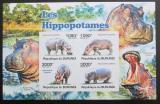 Poštovní známky Burundi 2011 Hroši, neperf. Mi# Block 152 B