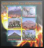 Poštovní známky Malawi 2007 Dinosauři a sopky neperf.