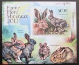 Poštovní známka Komory 2011 Králíci, neperf Deluxe Mi# 3049 B
