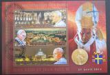 Poštovní známky Madagaskar 2014 Kanonizace papežů, zlaté písmo