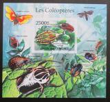 Poštovní známka Komory 2011 Brouci, hmyz neperf Mi# Bl 617 B